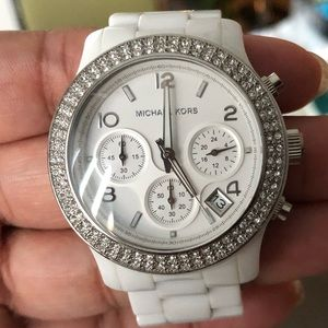 Michael Kors All White Quartz Watch